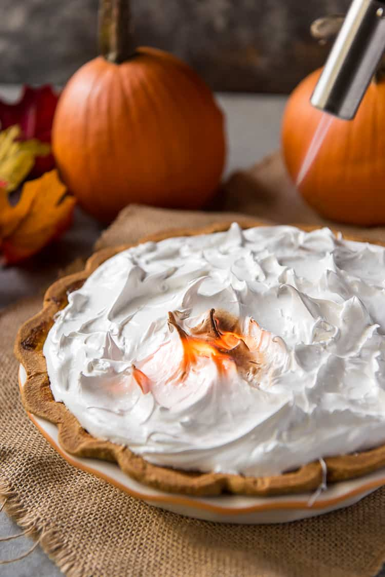 Easy Pumpkin Pie with Meringue