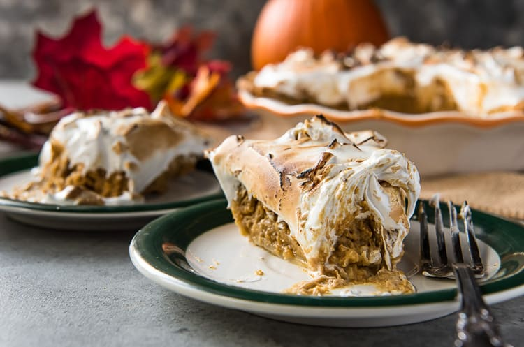 Homemade Pumpkin Pie with Meringue