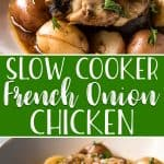 Hearty, comforting, and perfect for cooler weather, this Slow Cooker French Onion Chicken is a family favorite! Complete with tender baby potatoes and slow caramelized onions, this is a one-pot chicken thigh meal you're going to love having on rotation.
