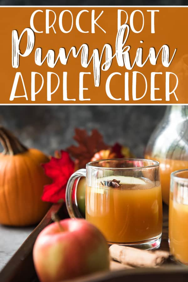 This easy Crock Pot Pumpkin Apple Cider is the ultimate fall drink, whether served hot or cold! Smooth, spicy apple cider is slow cooked with the comforting flavor of pumpkin, and makes your house smell like grandma's during the holidays!