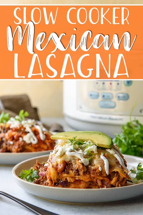 Take your lasagna south of the border with this easy Slow Cooker Mexican Lasagna with Barbacoa! Spicy and saucy shredded beef and soft tortillas replace the classic ingredients in this fun, twisted weeknight meal.