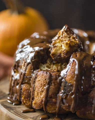 Chocolate Rum Pumpkin Monkey Bread