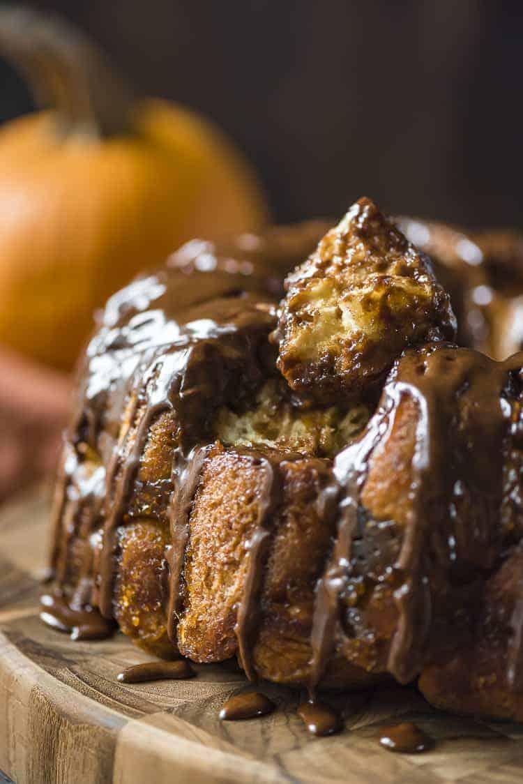 Chocolate Rum Pumpkin Monkey Bread