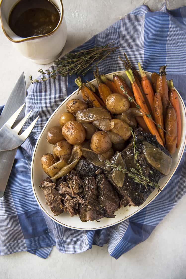 Nana S All Day Crock Pot Roast The Crumby Kitchen