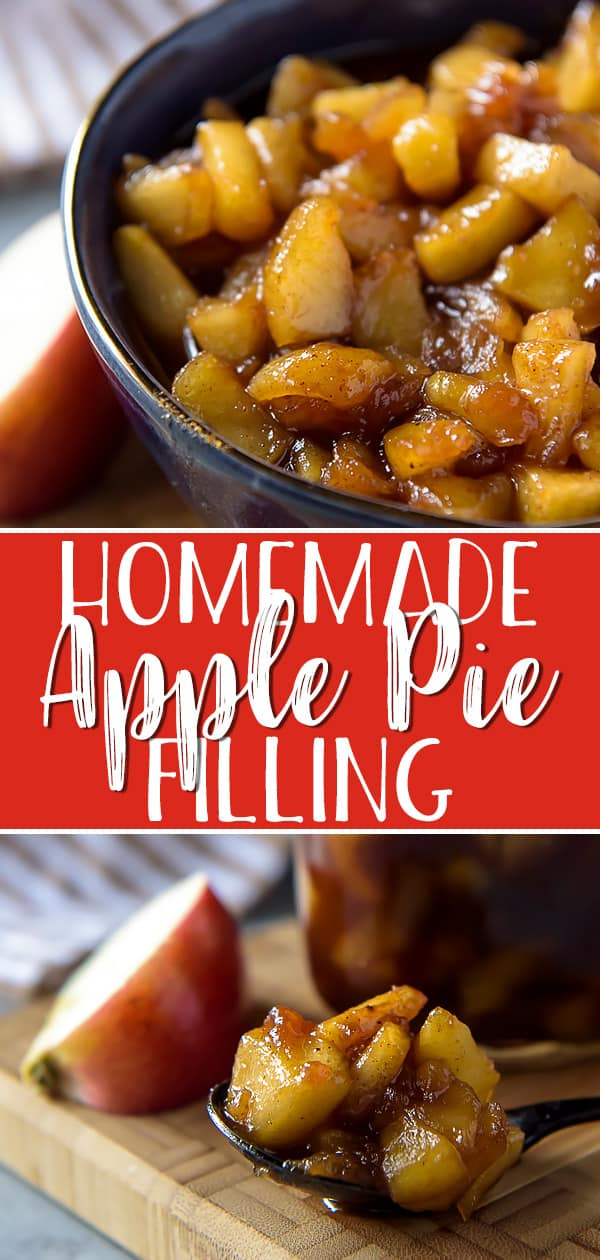After trying this easy-as-pie Homemade Apple Pie Filling, you'll never buy canned pie filling again! Your favorite apples, a handful of pantry items, and ten minutes are all that stand between you and all sorts of delicious apple dessert possibilities!