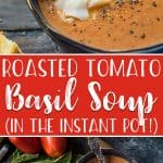 There's something extra comforting about a warm bowlof homemade Roasted Tomato Basil Soup with a gooey grilled cheese sandwich - the only thing better is when it's made in a fraction of the time in yourInstant Pot!