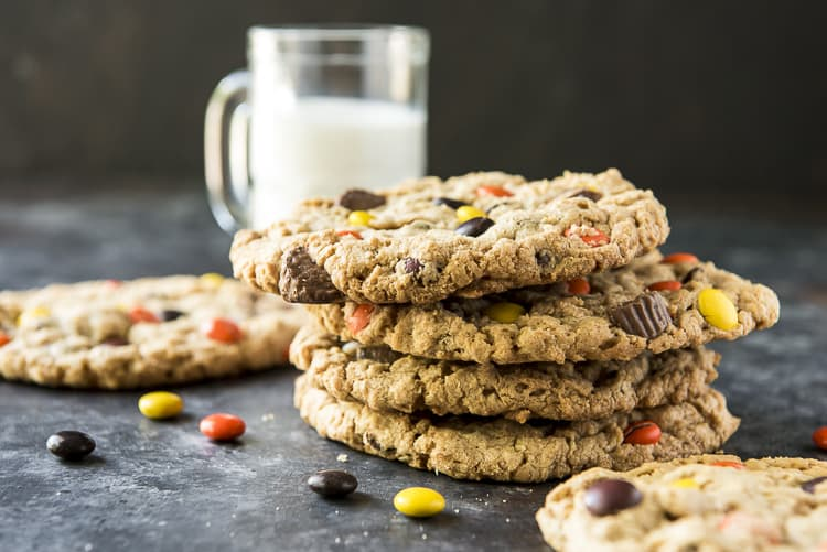 Loaded Peanut Butter Monster Cookies