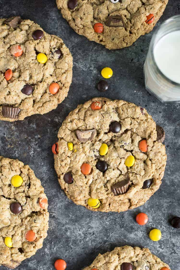Giant Peanut Butter Monster Cookies