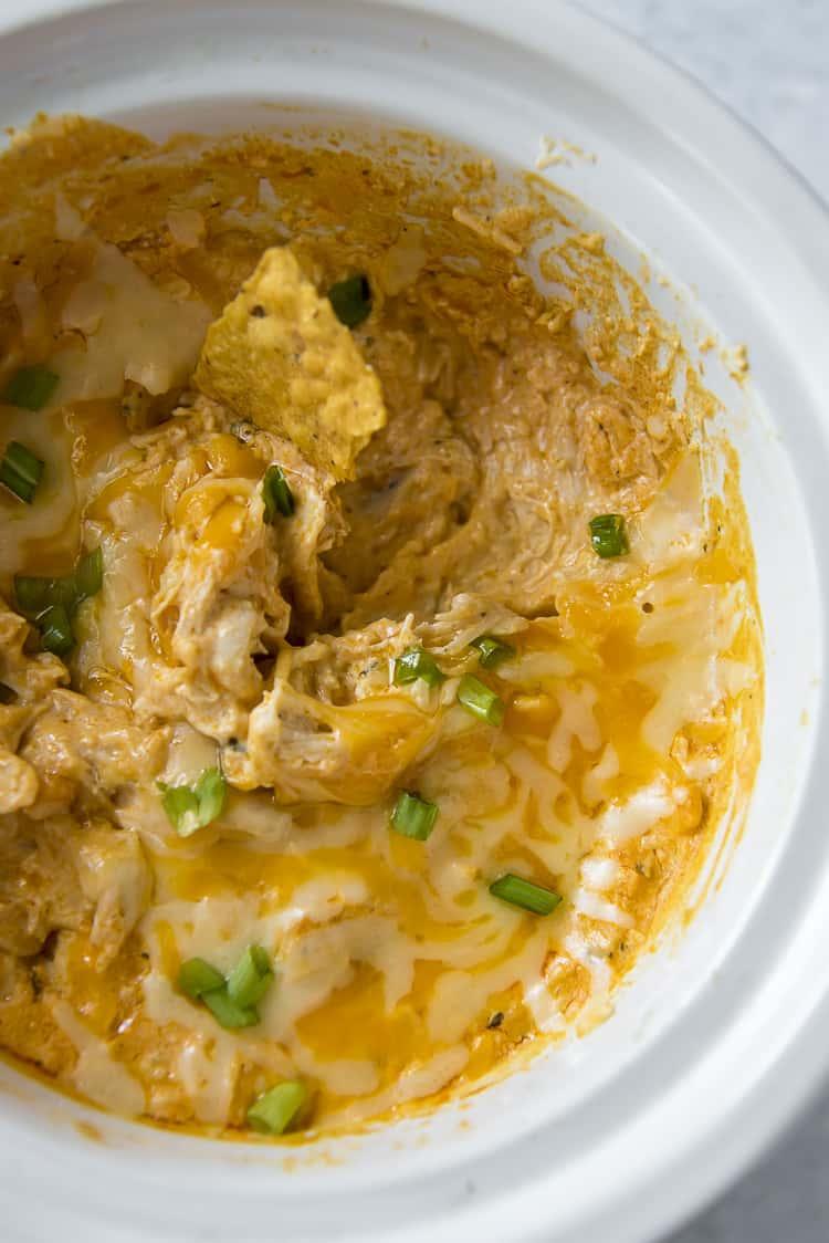 Easy Slow Cooker Buffalo Chicken Dip