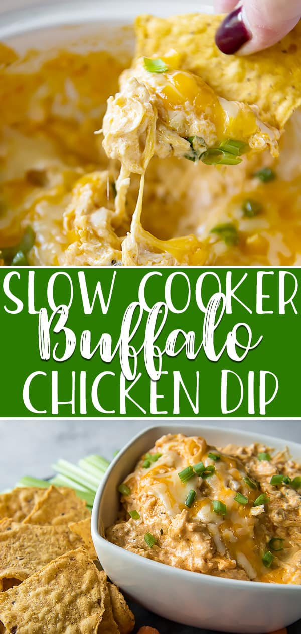 This easy, zero-prep Buffalo Chicken Dip turns a favorite bar food into a foolproof appetizer for any party and can be made in the Crock Pot, Instant Pot, or your oven! Shredded chicken and lots of creamy cheese come together in a spicy Buffalo-ranch sauce - it's so good, you may even chow down with a fork when the chips run out!