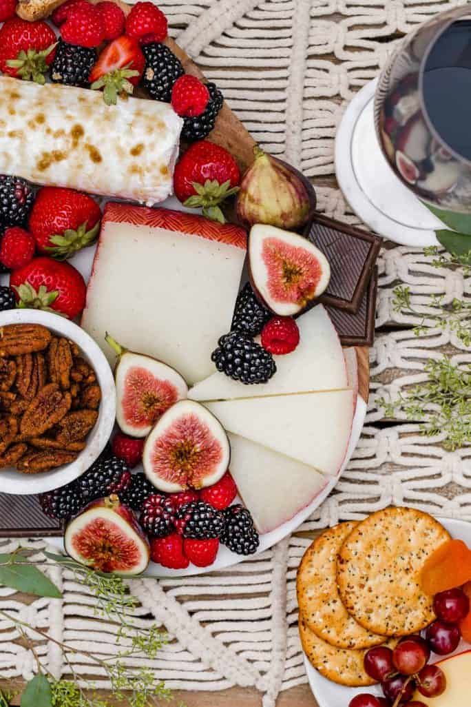 Dessert Cheese Boards - 27 Easy Cheesy Holiday Party Appetizers - The Crumby Kitchen