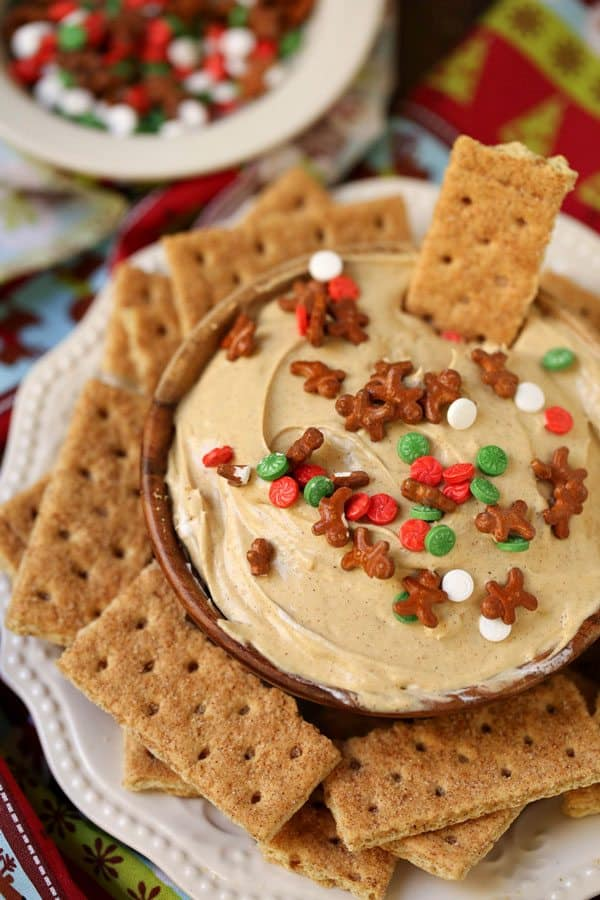 Ginger Cheesecake Dip - 27 Easy Cheesy Holiday Party Appetizers - The Crumby Kitchen