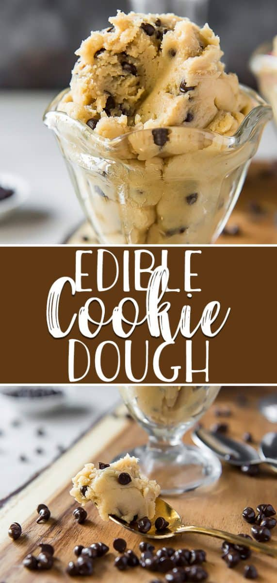 With this Edible Cookie Dough recipe in your pocket, you'll never feel the need to sneak nibbles from your batches of cookies again! This recipe is egg-free, quick & easy, totally customizable, and completely safe to eat right from the bowl!