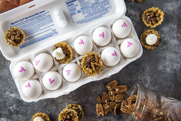 Mini Pecan Pie recipe in Phyllo shells using eggs