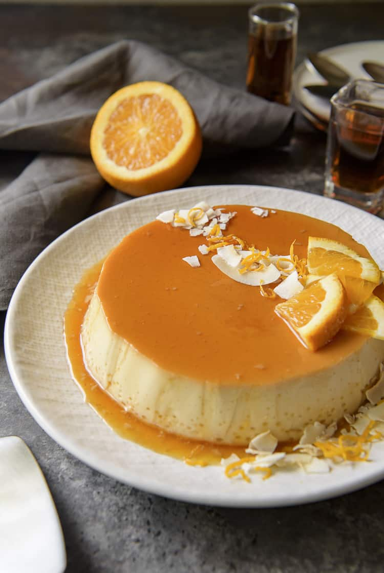 Orange Coconut Flan