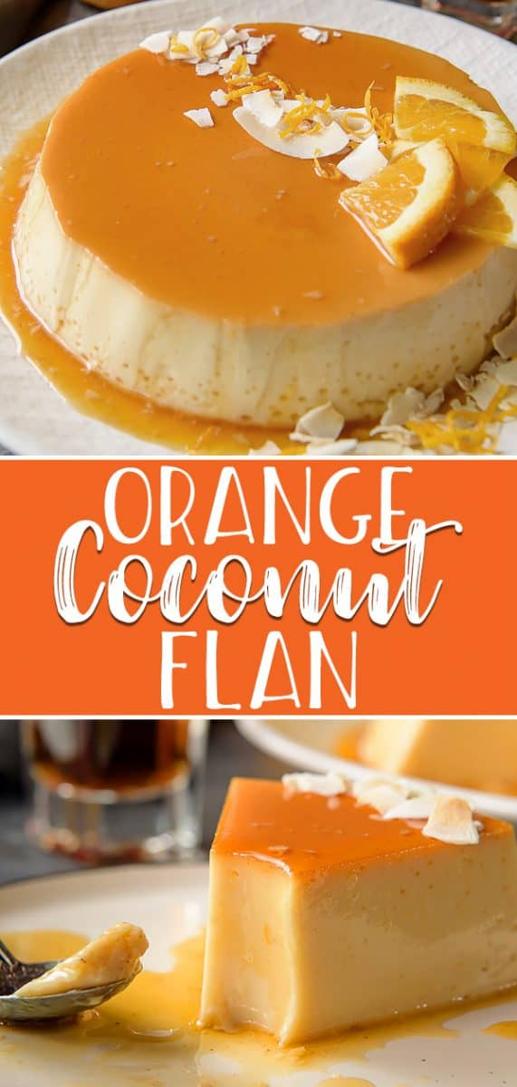 You don't have to be on a tropical vacation to enjoy a slice of this silky-smooth Orange Coconut Flan - it's just as easy to make at home! A tasty variation on the classic, this flan de coco combines a creamy coconut custard with an orange-rum caramel crown.