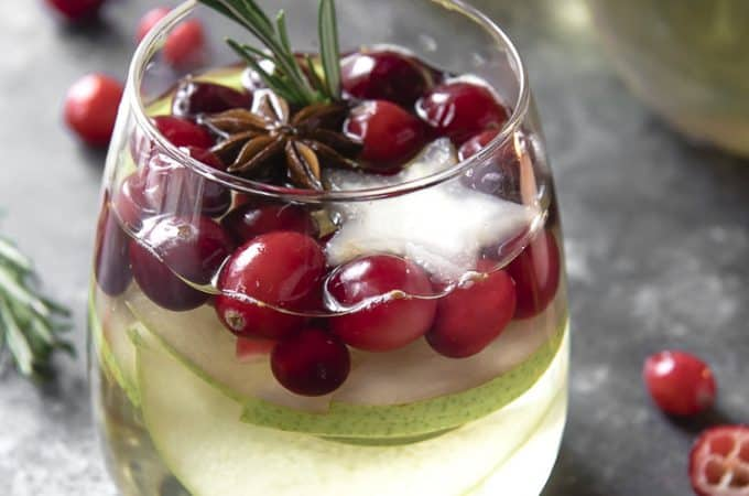 White Sangria for Christmas