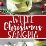You'll be dreaming about this White Christmas Sangria long after the holidays have come to an end! White wine, ginger beer, pear brandy, and some festive red and green fruit are all you need for this jolly holiday cocktail.