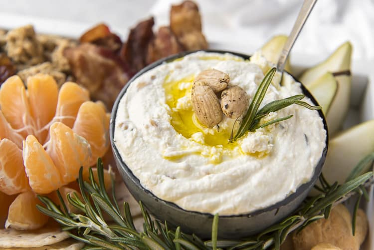 Whipped Rosemary Almond Feta Dip