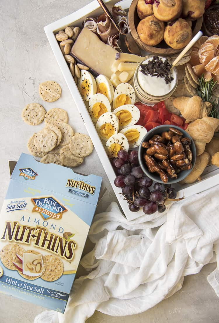Brunch Charcuterie Board with a box of Nut-Thins