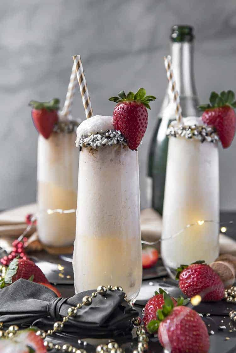 Ice Cream Champagne Floats