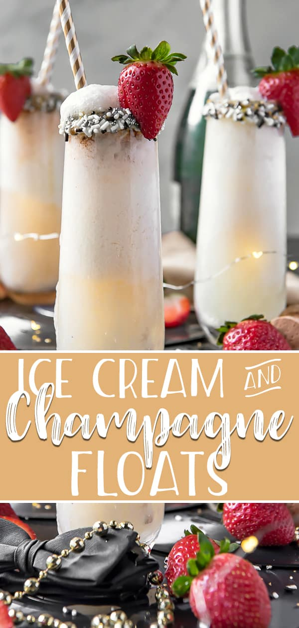Whether it's New Year's Eve, Mother's Day, Valentines Day, or another special occasion, these fun two-ingredient Champagne Floats are a lovely addition to the festivities! Combine your favorite ice cream, sorbet, or frozen yogurt with a glass of bubbly for an extra special treat.