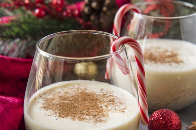 Homemade Eggnog drink