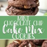 These Mint Chocolate Chip Cake Mix Cookies are the easiest cookies you'll ever make! A box of your favorite cake mix and only a handful of ingredients are all you need to whip up these soft, fudgy, mint-loaded goodies. Be sure to work these into your holiday baking this season!