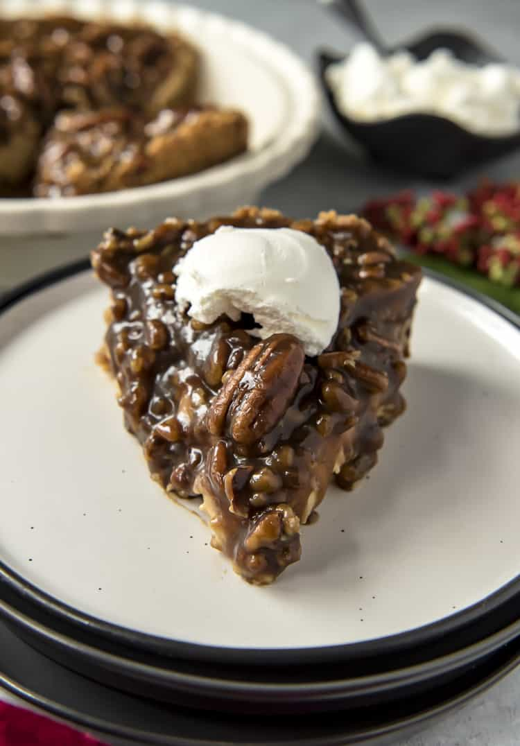 Pecan Pie Cheesecake on plate