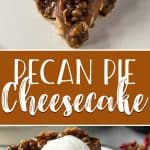 Two holiday dessert favorites come together in this sweet, gooey Pecan Pie Cheesecake! Velvety brown sugar cheesecake is nestled in a pecan-graham crust and topped with a pecan pie filling that will delight all of your senses!