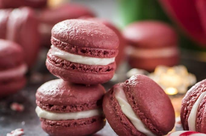 Peppermint Red Velvet Macaron recipe
