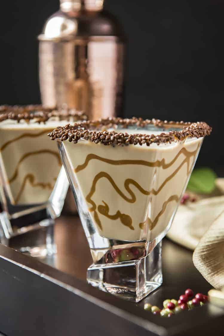 Salted Caramel Chocolate Martini #ChristmasSweetsWeek