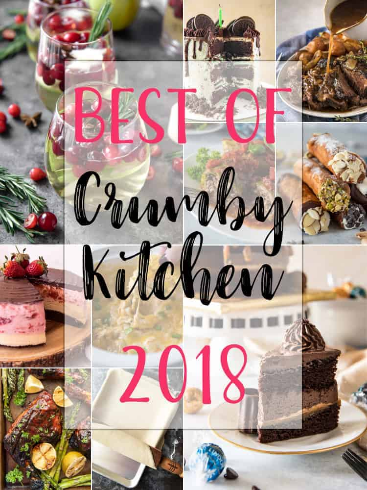 2018 Best Recipes on The Crumby Kitchen - most popular