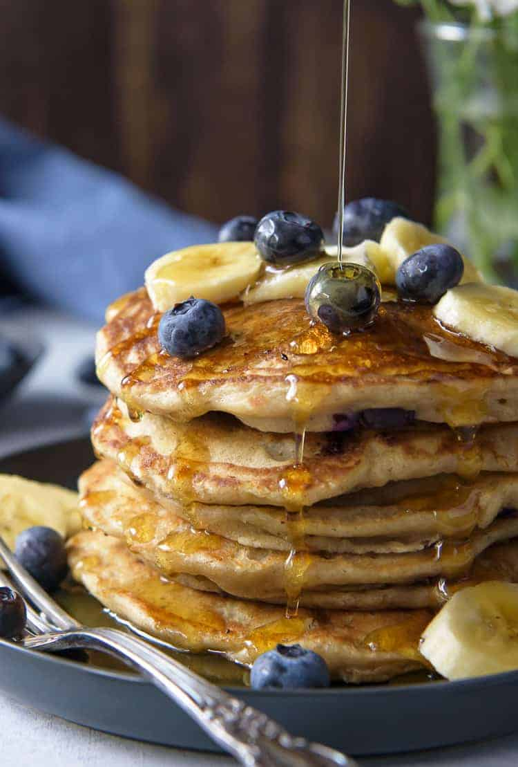 Blueberry Banana Pancakes
