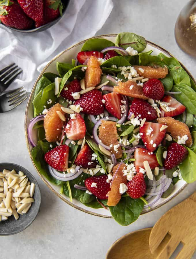 Photo of Citrus Strawberry Spinach Salad