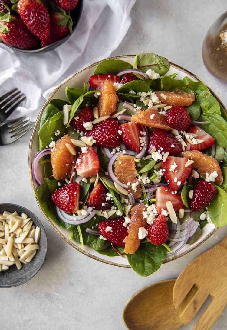 Citrus & Strawberry Spinach Salad