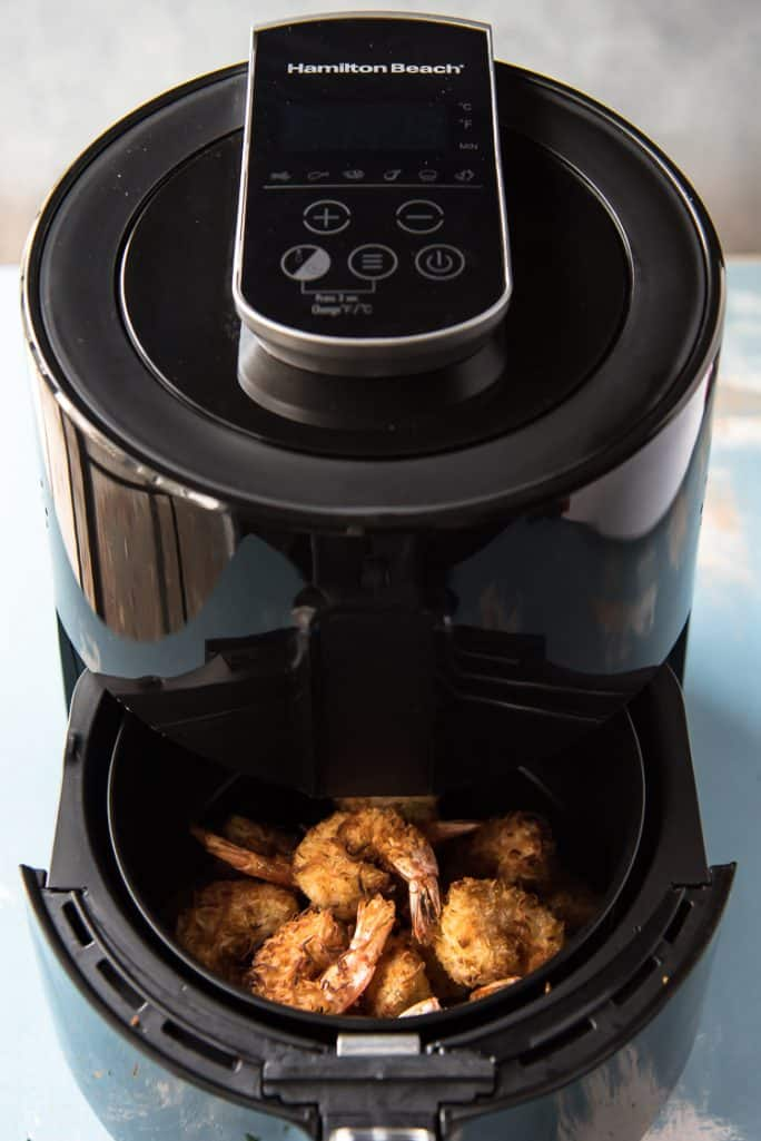 Crunchy Coconut Shrimp in an air fryer