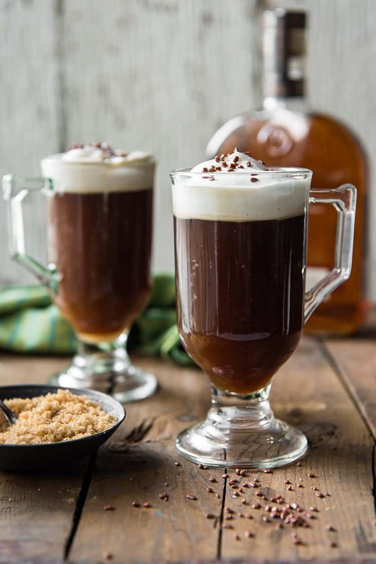 Classic Irish Coffee Cocktail