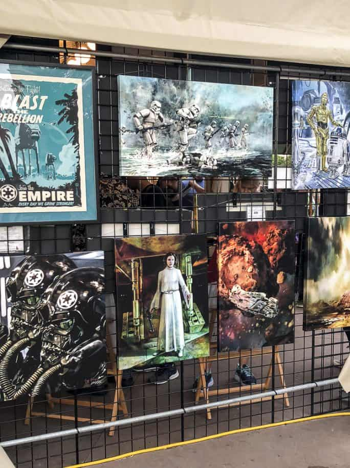 Star Wars art at the Epcot Festival of the Arts