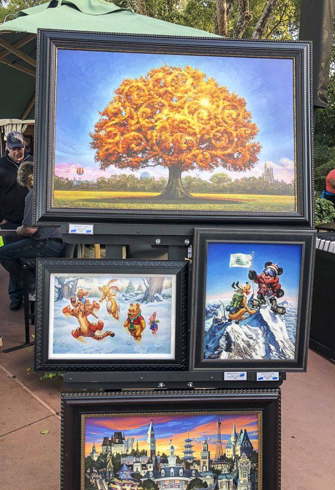Disney Art at the Epcot Festival of the Arts