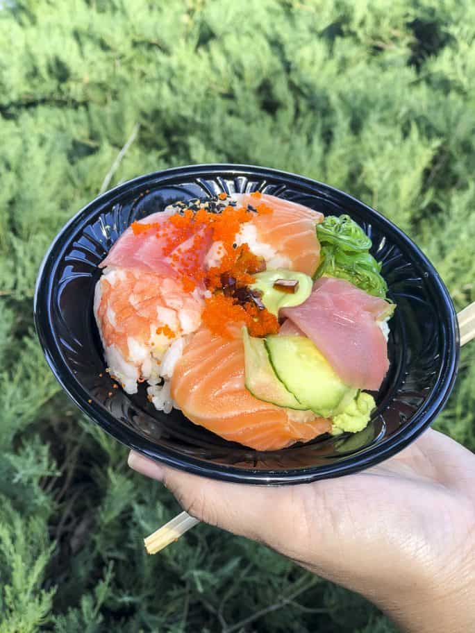 A Sushi Donut from Takumi Table at the Epcot Festival of the Arts