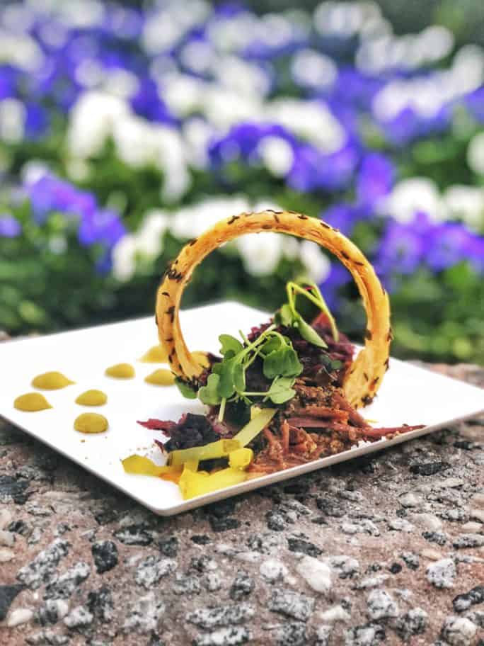 Deconstructed Reuben from the Deconstructed Dish at the Epcot Festival of the Arts