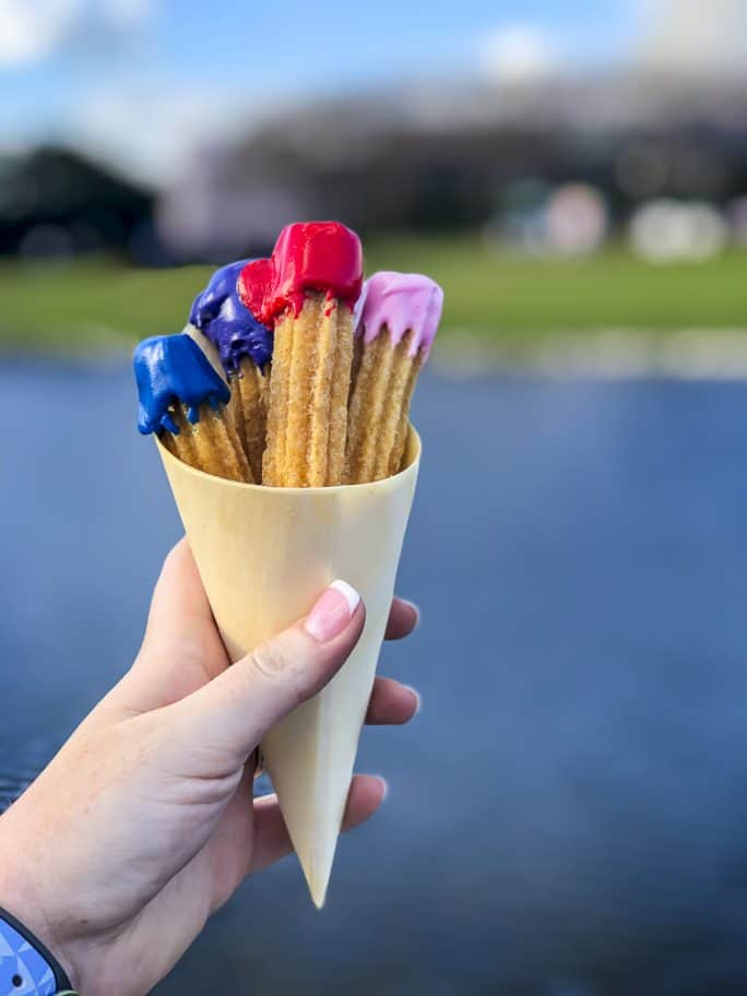 Paintbrush Churros from Taste Track; Epcot Festival of the Arts