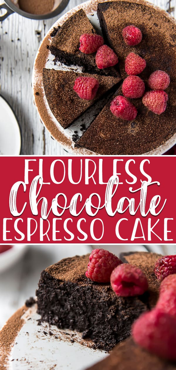 This incredible Flourless Espresso Chocolate Cake is a total dream for chocolate and coffee lovers - and you can make it in your Instant Pot! Dense, fudgy, and decadent, this truffle-like dessert is made with only 5 ingredients and is completely gluten-free and low-carb/keto.
