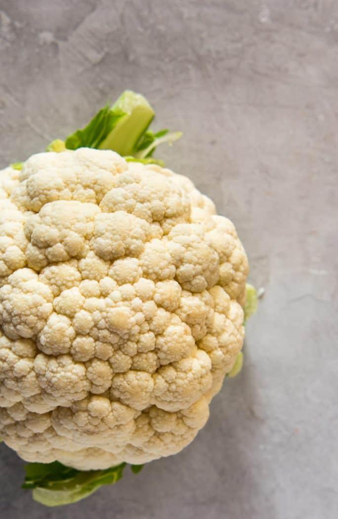 A perfect head of cauliflower