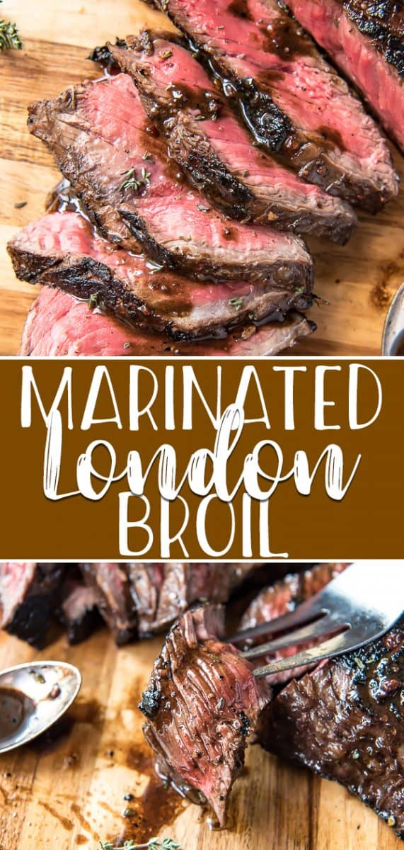 The secret to this insanely flavorful and tender Marinated London Broil is all in the timing! A day's worth of soaking in a simple marinade rewards you with a delicious dinner that's versatile and ready in no time.