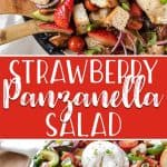 ThisStrawberry Panzanella Salad will be the breakout star of every meal this summer! Full of juicy tomatoes, sweet strawberries, toasted bread cubes, and topped with creamy burrata cheese, you won't be able to resist this classic Tuscan dish.