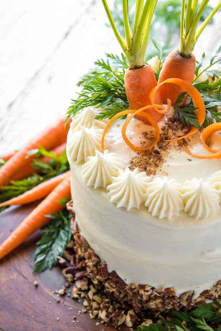 Best-Ever Buttermilk Carrot Cake #SpringSweetsWeek