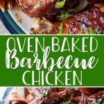 This Oven Baked BBQ Chicken is the perfect solution for those summertime dinner cravings - without the grill! Super moist thanks to a simple brine, this finger-lickin' good glazed bird needs very little attention once it's in the oven for its 40-ish minute ride to the dinner table!