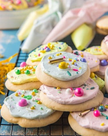 Soft Sugar Cookies with Frosting